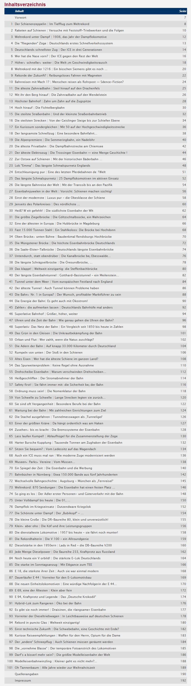 Fachbuch 101 Dinge viele Informationen die ein Eisenbahn-Liebhaber wissen muss