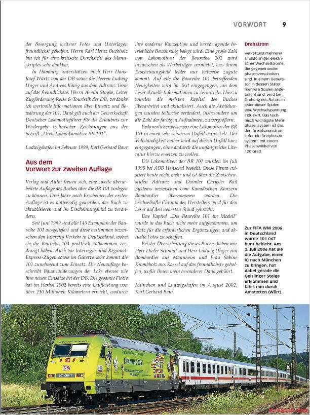 IC-Loks der DB Entwicklung und Konstruktion Fachbuch Baureihe 101 REDUZIERT